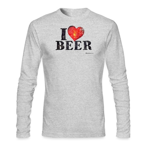 I Love Beer Distressed - Men's Long Sleeve T-Shirt by Next Level
