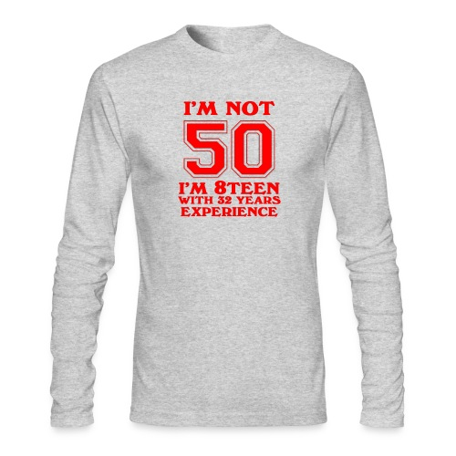 8teen red not 50 - Men's Long Sleeve T-Shirt by Next Level