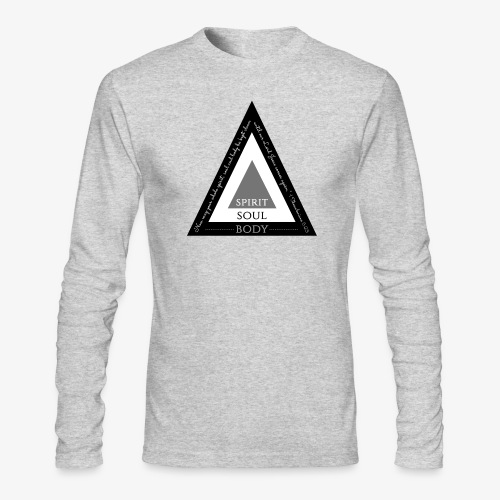 Spirit Soul Body - Men's Long Sleeve T-Shirt by Next Level