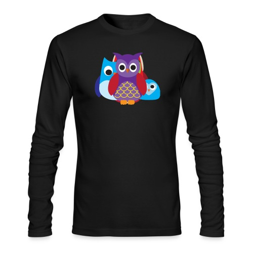 Cute Owls Eyes - Men's Long Sleeve T-Shirt by Next Level