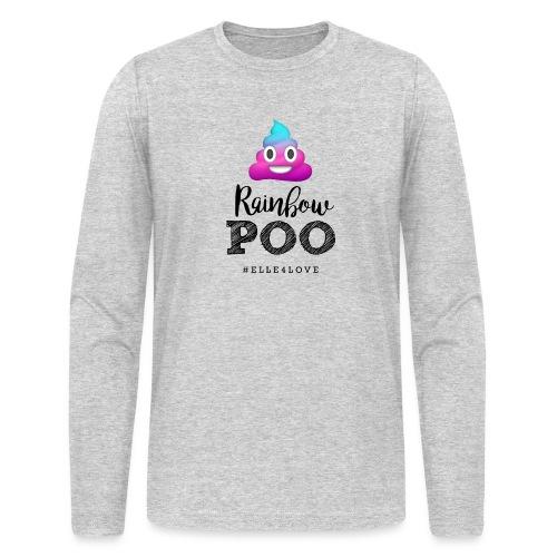 Rainbow Poo - Men's Long Sleeve T-Shirt by Next Level