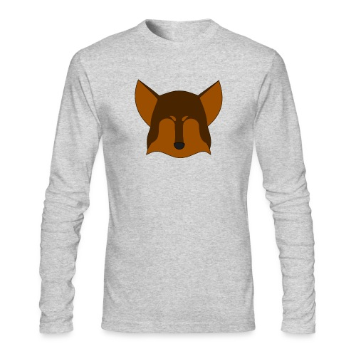 Simple Wolf Head - Men's Long Sleeve T-Shirt by Next Level