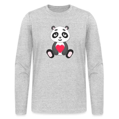 Sweetheart Panda - Men's Long Sleeve T-Shirt by Next Level