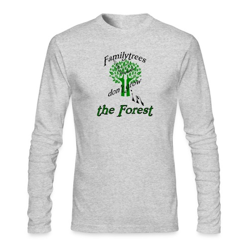 genealogy family tree forest funny birthday gift - Men's Long Sleeve T-Shirt by Next Level