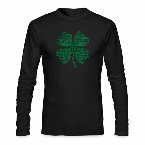 Shamrock Word Cloud - Men's Long Sleeve T-Shirt by Next Level