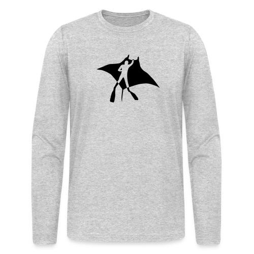 manta ray sting scuba diving diver dive fish ocean - Men's Long Sleeve T-Shirt by Next Level