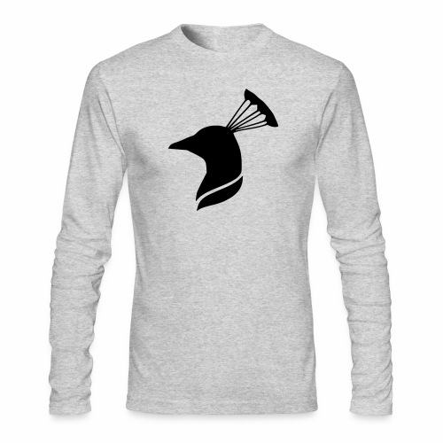 peacock head - Men's Long Sleeve T-Shirt by Next Level