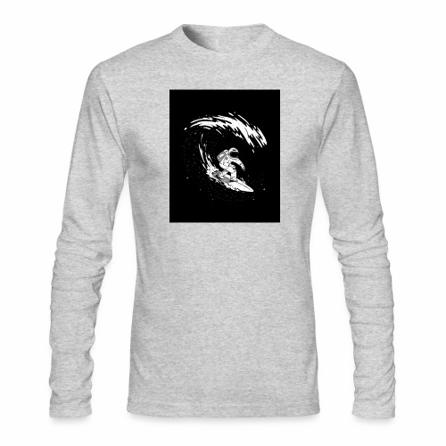 Astronaut Surf tshirt 01 HQ 01 - Men's Long Sleeve T-Shirt by Next Level