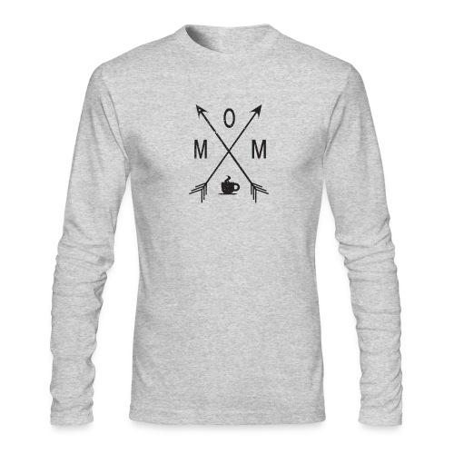Mom Loves Coffee (black ink) - Men's Long Sleeve T-Shirt by Next Level