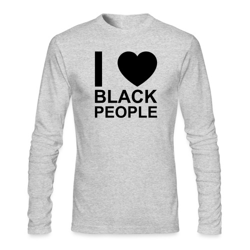 I love Black people - Men's Long Sleeve T-Shirt by Next Level