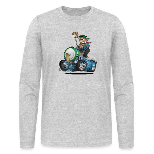 Hot Rod Electric Car Cartoon - Men's Long Sleeve T-Shirt by Next Level