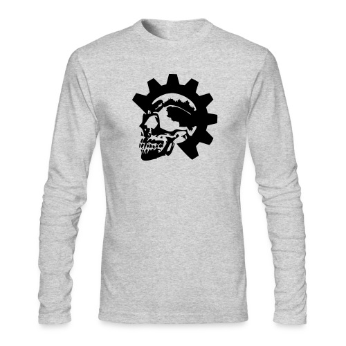Gearhead Skull - Men's Long Sleeve T-Shirt by Next Level