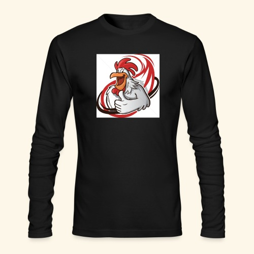 cartoon chicken with a thumbs up 1514989 - Men's Long Sleeve T-Shirt by Next Level