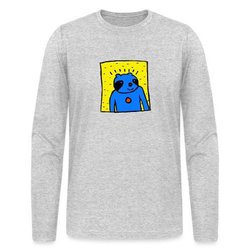 Sloth Portrait Hoodie - Men's Long Sleeve T-Shirt by Next Level