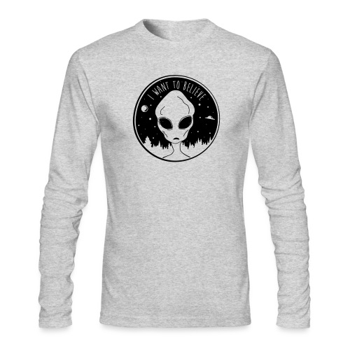 I Want To Believe - Men's Long Sleeve T-Shirt by Next Level