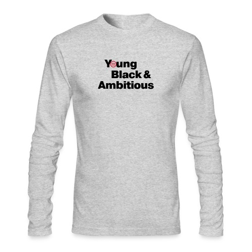 YBA white and gray shirt - Men's Long Sleeve T-Shirt by Next Level