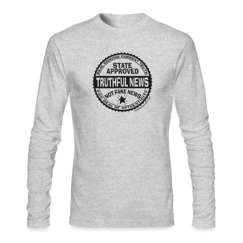 Truthful News FCC Seal - Men's Long Sleeve T-Shirt by Next Level