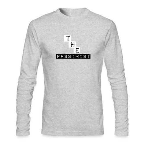 The Pessimist Abstract Design - Men's Long Sleeve T-Shirt by Next Level