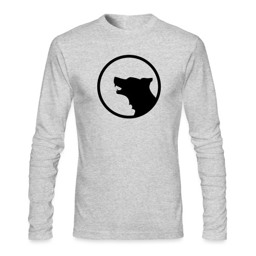 Wolf Silhouette Vector - Men's Long Sleeve T-Shirt by Next Level