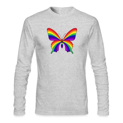 Rainbow Butterfly - Men's Long Sleeve T-Shirt by Next Level