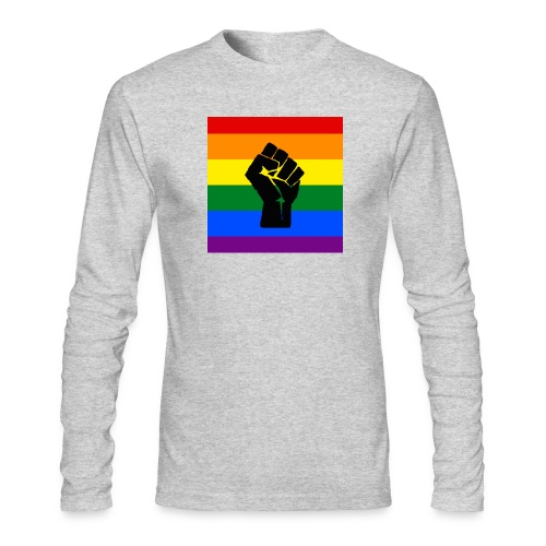BLM Pride Rainbow Black Lives Matter - Men's Long Sleeve T-Shirt by Next Level