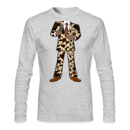 The Classic Cow Suit - Men's Long Sleeve T-Shirt by Next Level