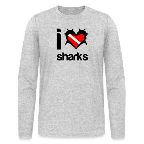 I Love Sharks - Men's Long Sleeve T-Shirt by Next Level