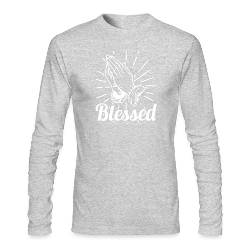 Blessed (White Letters) - Men's Long Sleeve T-Shirt by Next Level