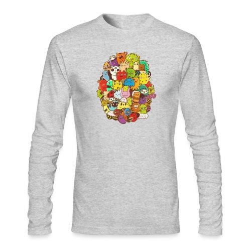 Doodle for a poodle - Men's Long Sleeve T-Shirt by Next Level
