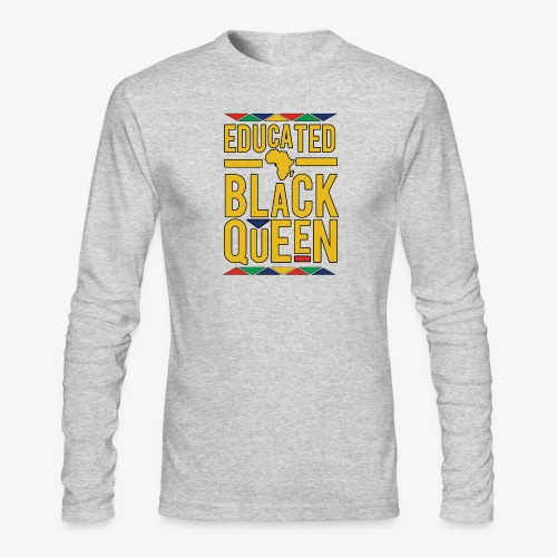 Dashiki Educated BLACK Queen - Men's Long Sleeve T-Shirt by Next Level