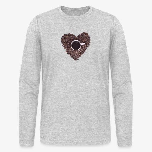 I Heart Coffee Black/White Mug - Men's Long Sleeve T-Shirt by Next Level