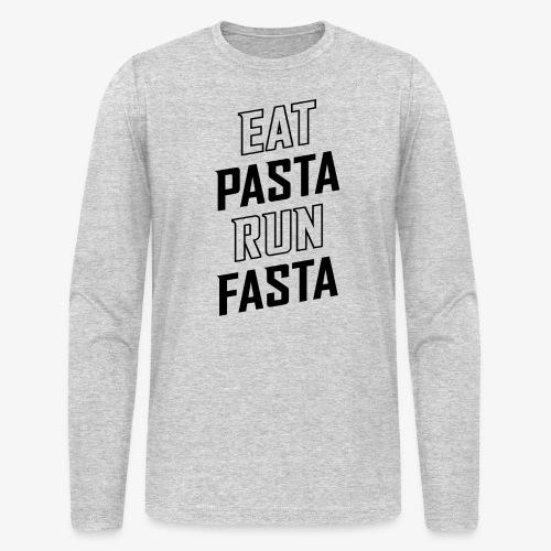 Eat Pasta Run Fasta v2 - Men's Long Sleeve T-Shirt by Next Level