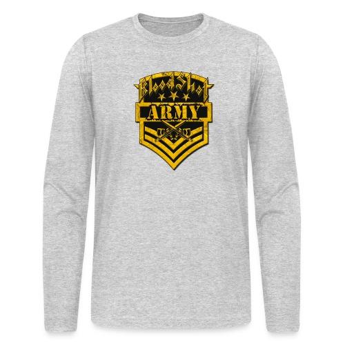 BloodShot ARMYLogo Gold /Black - Men's Long Sleeve T-Shirt by Next Level