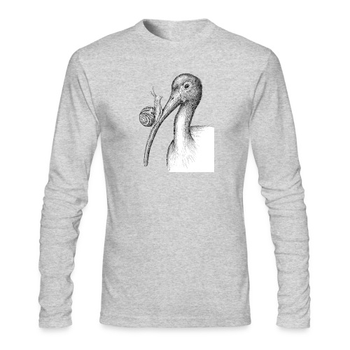 Ibis with Snail by Imoya Design - Men's Long Sleeve T-Shirt by Next Level