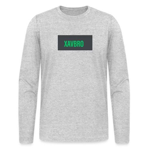 xavbro green logo - Men's Long Sleeve T-Shirt by Next Level