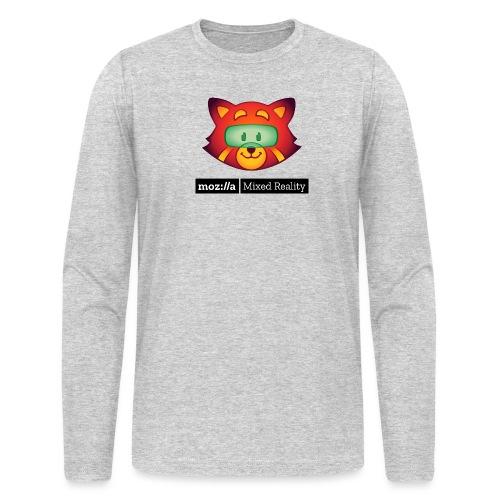 Foxr Head (black MR logo) - Men's Long Sleeve T-Shirt by Next Level