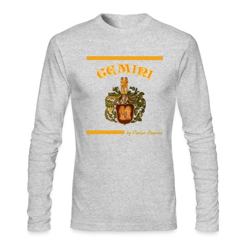 GEMINI ORANGE - Men's Long Sleeve T-Shirt by Next Level