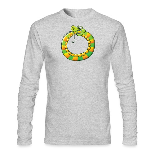 Crazy Snake Biting its own Tail - Men's Long Sleeve T-Shirt by Next Level