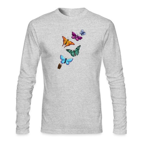 butterfly tattoo designs - Men's Long Sleeve T-Shirt by Next Level