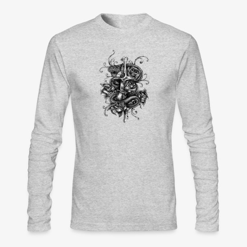 Dagger And Snake - Men's Long Sleeve T-Shirt by Next Level