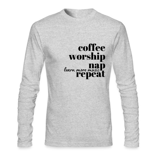 Coffee Worship Nap Tee - Men's Long Sleeve T-Shirt by Next Level