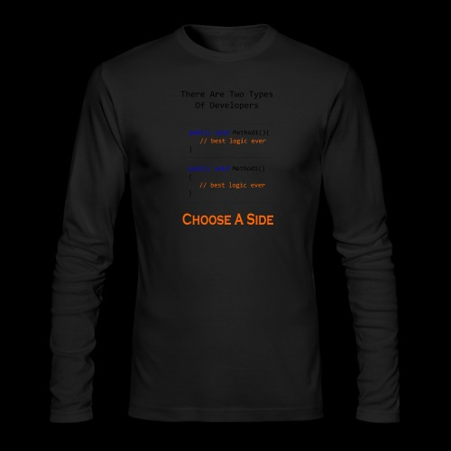 Code Styling Preference Shirt - Men's Long Sleeve T-Shirt by Next Level