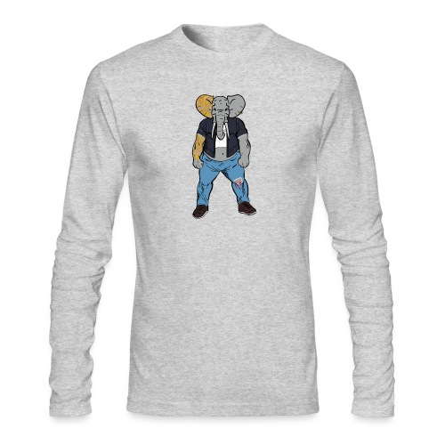 Dumbo Fell in the Wrong Crowd - Men's Long Sleeve T-Shirt by Next Level