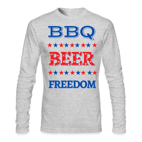 BBQ BEER FREEDOM - Men's Long Sleeve T-Shirt by Next Level