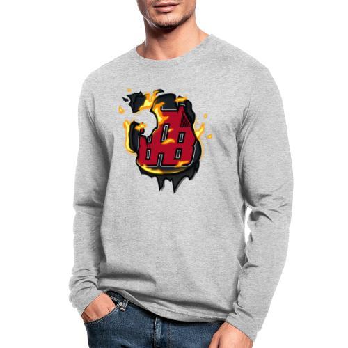 BAB Logo on FIRE! - Men's Long Sleeve T-Shirt by Next Level
