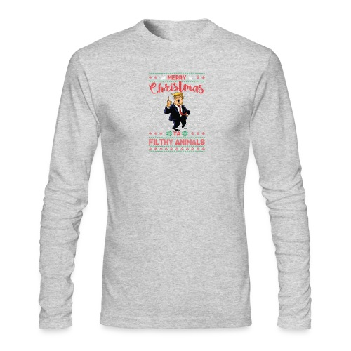 MEERRY CHRISTMAS YA FILTHY ANIMALS - Men's Long Sleeve T-Shirt by Next Level