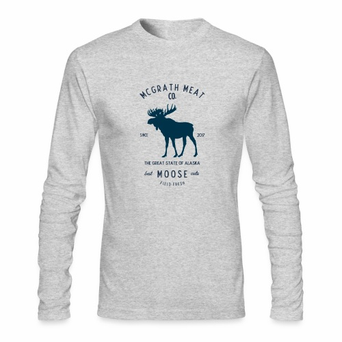 McGrath Meat Company Blue Stamp Logo - Men's Long Sleeve T-Shirt by Next Level
