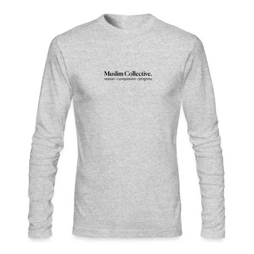 Muslim Collective Logo + tagline - Men's Long Sleeve T-Shirt by Next Level