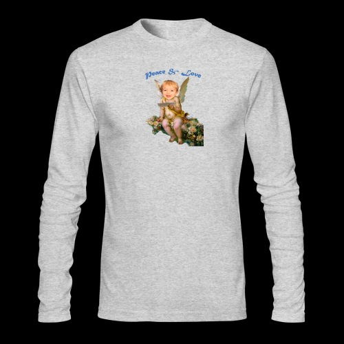 Peace and Love - Men's Long Sleeve T-Shirt by Next Level