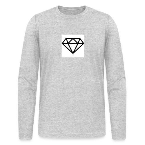 diamond outline 318 36534 - Men's Long Sleeve T-Shirt by Next Level